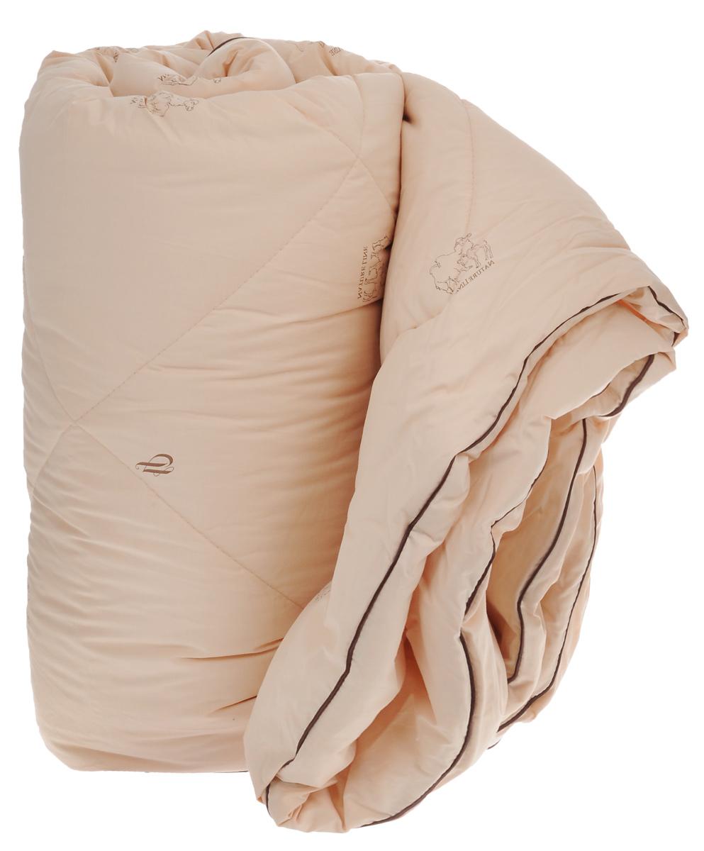 Одеяло зимнее La Prima, наполнитель: верблюжья шерсть, полиэфирное волокно, цвет: темно-бежевый, 200 х 220 см00000004568Одеяло La Prima Верблюжья шерсть - это выбор тех, кто заботится о своем здоровье, поскольку оно отличается не только теплотой и мягкостью, но и своими целебными свойствами. Чехол выполнен из тика (100% хлопок). Наполнитель - натуральная верблюжья шерсть с добавлением полиэфирного волокна. Одеяло простегано и окантовано, стежка равномерно удерживает наполнитель внутри. Одеяло из верблюжьей шерсти подарит вам абсолютный комфорт во время сна, так как оказывает положительное влияние на организм человека. Оно создает эффект сухого тепла, прогревая мышцы и суставы, успокаивает и снимает усталость. Одеяло из верблюжьей шерсти теплее, прочнее и при одинаковом объеме значительно легче овечьей шерсти. Оно гипоаллергенно и рекомендовано для профилактики и лечения многих заболеваний. Зимнее одеяло из верблюжьей шерсти удобно и комфортно, оно создаст оптимальный микроклимат в постели в холодное время года.Рекомендации по уходу:- Стирка при температуре 30°С.- Не использовать отбеливатели. - Барабанная сушка при более низкой температуре, щадящий режим.- Не гладить. - Профессиональная сухая чистка, щадящий режим. Наполнитель: 40% верблюжья шерсть, 60% полиэфирное волокно (полиэстер).