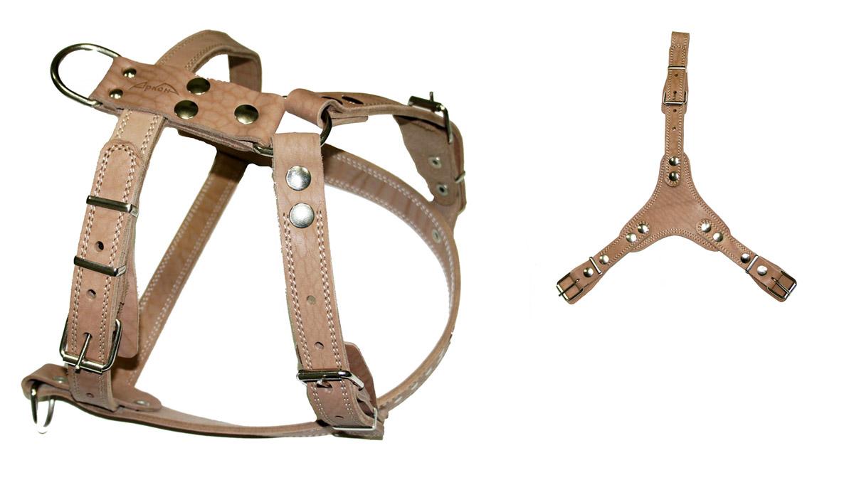 Шлейка для собак Аркон N3, универсальная, цвет: бежевый. ш3у комплект для животных аркон техно цвет оранжевый белый 2 предмета кт37