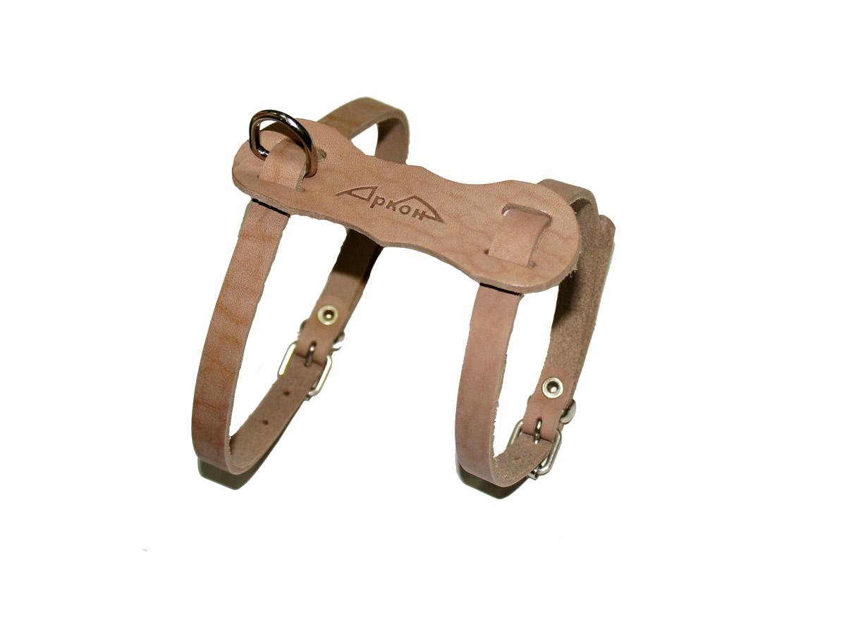 Шлейка Аркон Люкс, цвет: коричневый, ширина 11 мм, длина 36-45 см. шлшлШлейкаАрконЛюкс - это альтернатива ошейнику. Правильно подобранная шлейка не стесняет движения собаки, не натирает кожу, поэтому животное чувствует себя в ней уверенно и комфортно. Длина: 36 - 45 смШирина: 11 мм.