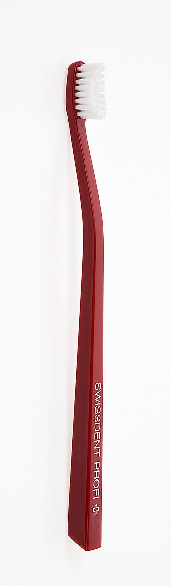 цена на Swissdent Profi Зубная щетка, мягкая, красно-белая