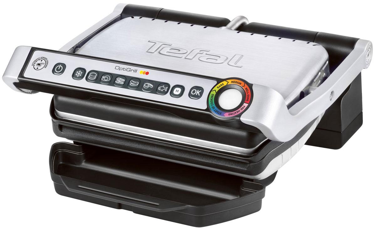 Tefal GC702D34 электрогрильGC702DTefal GC702D34 - первый в мире гриль, который измеряет толщину куска мяса и определяет автоматически желаемый уровень прожарки. Уникальная запатентованная технология: автоматический сенсор регулирует температуру в зависимости от величины и толщины куска мяса, индикатор степени прожарки помогает визуализации процесса приготовления.6 автоматических программ с адаптированной температурой и циклами жарки предназначены для приготовления бургеров, птицы, бекона (панини), сосисок, мяса или рыбы.Датчик измерения толщины и регулировки температуры6 программ (гамбургер, птица, бекон / панини, сосиски, мясо, рыба) + ручные программыПростота обслуживанияПластины и поддон легко мыть в посудомоечной машинеУгол наклона панели - 7° (для стекания жира и легкой очистки)Поверхность гриля – 600 кв. см