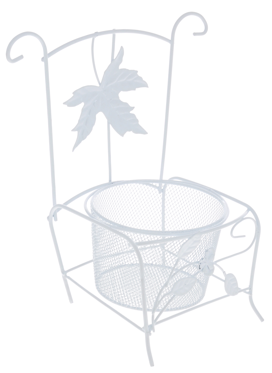 Кашпо ScrapBerrys СтулSCB271045Кашпо ScrapBerrys Стул изготовлено из высококачественного металла в виде стула.Кашпо - декоративная ваза для цветочных горшков.Фигурные кашпо для цветов служат объектом декора помещения. Дом, украшенный фигурными кашпо, приобретает свою оригинальность, свой характер. Неожиданные и оригинальные кашпо для цветов - это самый простой и доступный способ сделать дом, дачу или приусадебную территорию неповторимыми. Кашпо ScrapBerrys Стул - красивый и оригинальный сувенир для друзей и близких.Диаметр отверстия для горшка: 10 см.