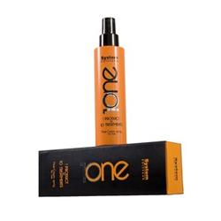 Dikson 1One Маска-крем спрей Mask-Cream Spray For Hair 150 мл2510Dikson 1 One Mask -Cream Spray For Hair Маска-крем спрей это эффективное средство для экспресс-восстановления повреждённых, ослабленных и ломких волос. Маска-крем создана на основе уникальной и сбалансированной формулы, разработанной итальянской компанией Диксон и уже после нескольких применений делает волосы невероятно послушными, очень мягкими и блестящими. Средство обеспечивает питание и увлажнение структуры волос, защищает волосы от ярких солнечных лучей, повышенной влажности и от высоких температур (например, при укладке волос утюжком или феном). Маска-спрей наделяет волосы силой, энергией и красотой, обладает антиоксидантным свойством, способствует устранению преждевременного старения волос, при этом средство помогает избавиться от проблемы секущихся кончиков, отлично разглаживает завитки волос.Маска-крем спрей Dikson обладает очень лёгкой структурой, а флакон со средством максимально удобен в применении.