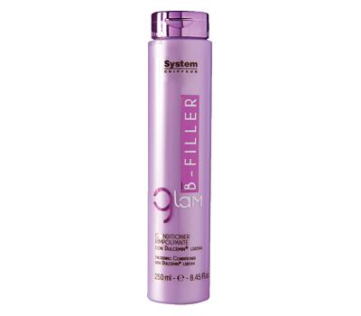 Dikson Кондиционер для ухода за волосами с комплексом Dulcemin LS 8594 Glam B-Filler Thickening Conditioner 250 млdiks2637Кондиционер используется после шампуня Bfiller Shampoo и дарит волосам всю пользу свойства гликопротеина Dulcemin®LS8594 из семян сладкого миндаля, обладающего интенсивными питательными и смягчающими свойствами. Предотвращает проблему секущихся кончиков. Glam Bfiller Conditioner рекомендуется использовать каждый раз после мытья шампунем.Активные компоненты: Dulcemin LS8594 (гликопротеин), миндаль.Результат: Благодаря пролонгированному увлажняющему эффекту, волосам возвращается естественная красота, они становятся плотными и шелковистыми, как никогда!