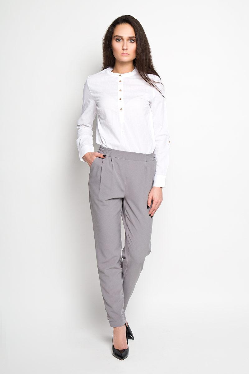 Брюки женские Sela, цвет: серый. P-115/698-6171. Размер 42 жакет женский sela цвет белый темно синий jtk 116 448 6171 размер s 44