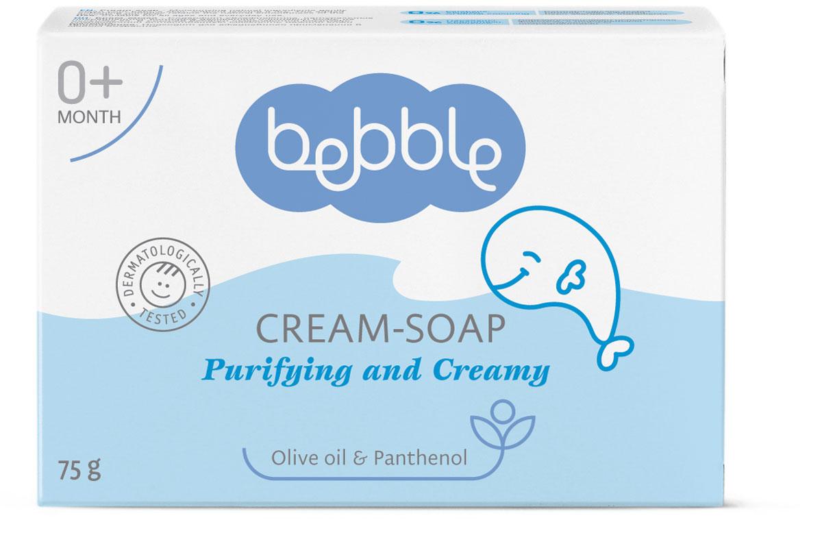 Bebble Крем-мыло Cream-Soap 75 мл301214Крем-мыло bebble имеет мягкую и кремообразную формулу, которая создает нежную, воздушную пену. Увлажняющие растительные ингредиенты деликатно очищают кожу твоего маленького сокровища, не иссушая ее. Природные и активных ингредиентов в этой Bebble продукта: Масло оливы Это масло является популярным ингредиентом здорового образа жизни в течение многих веков. Богатое ненасыщенными жирами, оно быстро проникает в кожу и обеспечивает глубокое увлажнение. Помогает смягчить кожу, оставляя приятное ощущение шелковистости. Д-пантенол Также известен как провитамин B5, D-пантенол придает коже мягкость и гладкость, улучшает ее внешний вид. Проникает в верхний слой кожи и поддерживает ee естественный баланс влаги, и в тоже время стимулирует рост и восстановление клеток. Витамин E Витамин Е является наиболее эффективным антиоксидантом. Укрепляет иммунную систему и имеет важное значение в поддержании эластичности и витальности кожи. Витамин Е помогает уменьшить вредное воздействие солнца и обеспечивает дополнительную защиту кожи.