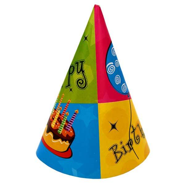 Action! Колпак С Днем Рождения! 6 шт -  Колпаки и шляпы