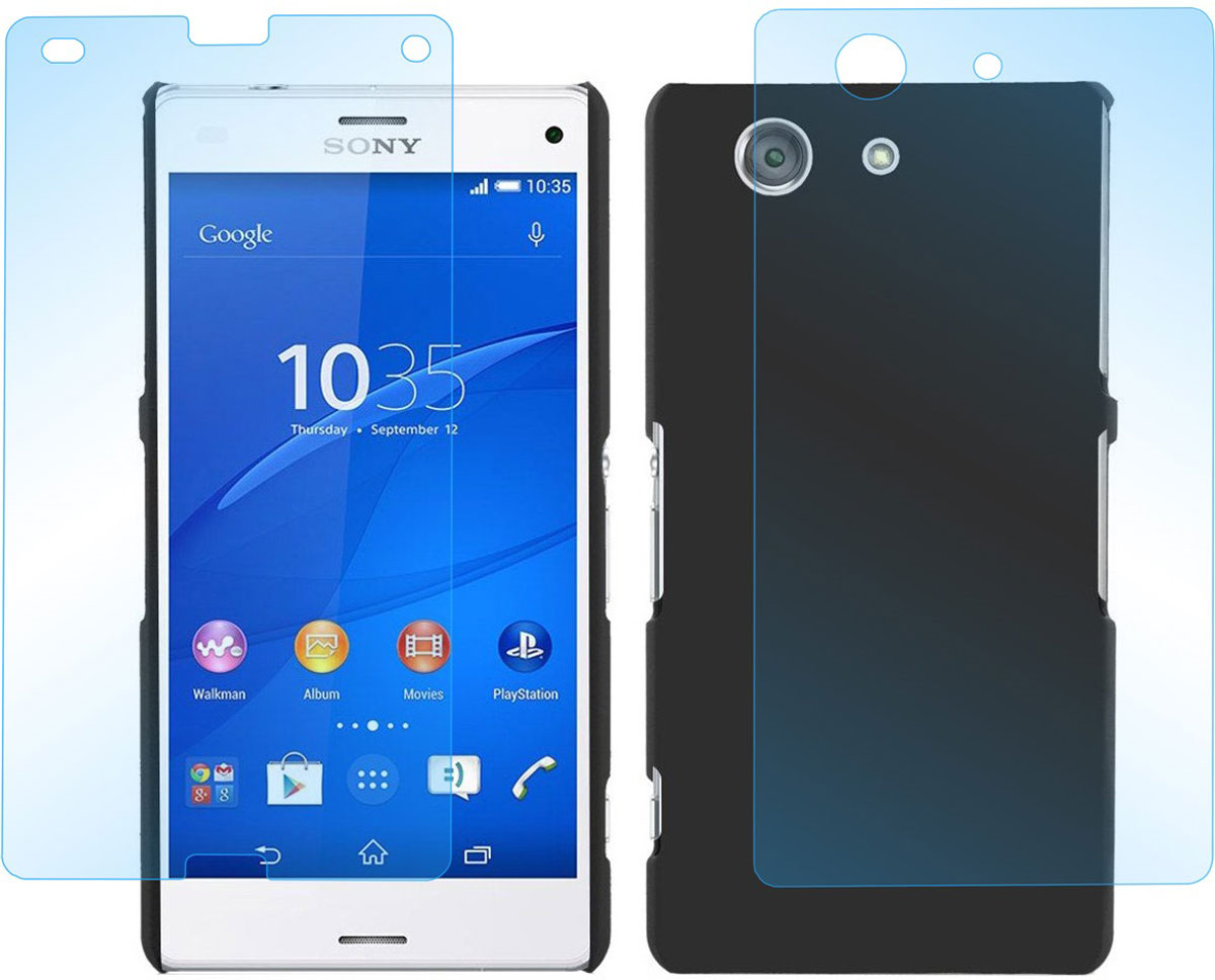 Skinbox комплект защитных стекол для Sony Xperia Z3 Compact, глянцевыеSP-143Защитное стекло Skinbox для Sony Xperia Z3 Compact предназначено для защиты поверхности экрана и задней стороны от царапин, потертостей, отпечатков пальцев и прочих следов механического воздействия. Оно имеет окаймляющую загнутую мембрану последнего поколения, а также олеофобное покрытие. Изделие изготовлено из закаленного стекла высшей категории, с высокой чувствительностью и сцеплением с экраном.