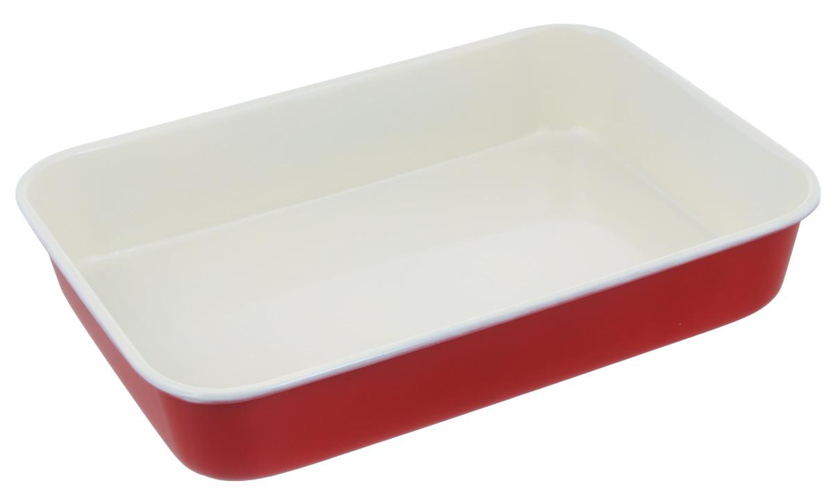 """Противень """"Mayer & Boch"""", с керамическим покрытием, прямоугольный, цвет: красный, 40 х 28 х 7,6 см"""