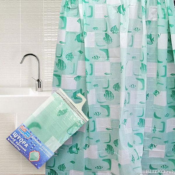Штора для ванной комнаты Дом и все, что в нем, цвет: белый, зеленый, 180 х 180 см839-005Штора Дом и все, что в нем, изготовленная из водонепроницаемого полимерного материала с изображением рыбок, идеально защищает ваннуюкомнату от брызг. Яркий дизайн шторы украсит интерьер ванной комнаты. В комплекте прилагаются 12 пластиковых колец. Рекомендации по уходу: не стирать и не подвергать химчистке - просто протереть поверхность теплой водой.