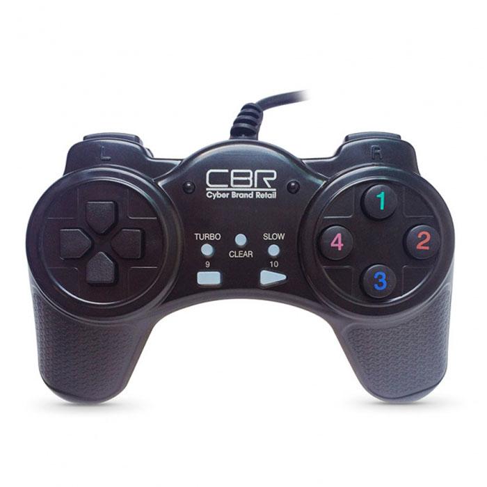 Игровой манипулятор CBR CBG 907 для PC черныйCBG 907Игровой джойстик CBG 907 - самая простая и доступная модель в ряду игровых устройств CBR. На борту - только самые нужные и важные функции: классический пульт управления, плюс 14 функциональных кнопок. Лучше всего этот джойстик подойдет для простых изометрических игр и наверняка будет оценен по достоинству любителями олдскульных хитов, типа Street Fighter.