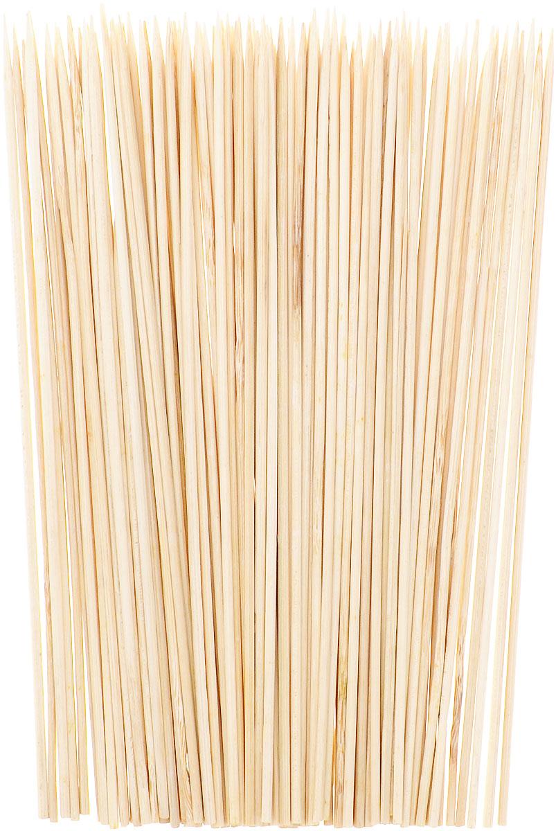 Деревянные шпажки с одним заостренным краем отлично подойдут для  приготовления и подачи различных шашлычков и овощей, а также для оформления  других блюд, например тарелки с фруктами.Данный набор состоит из 100  шпажек.