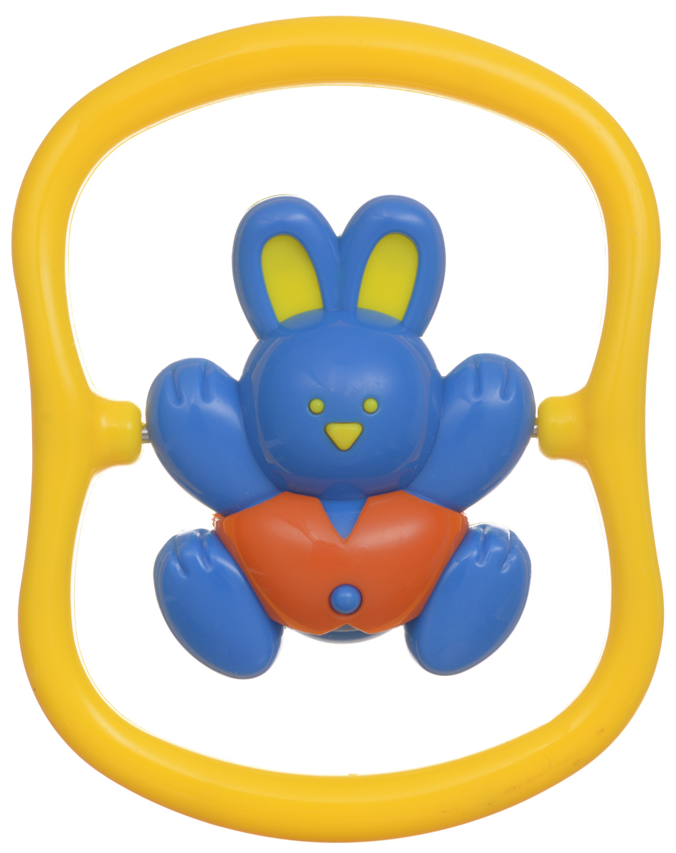 Малышарики Погремушка Зайка на качелях цвет синий желтый погремушка малышарики лягушка
