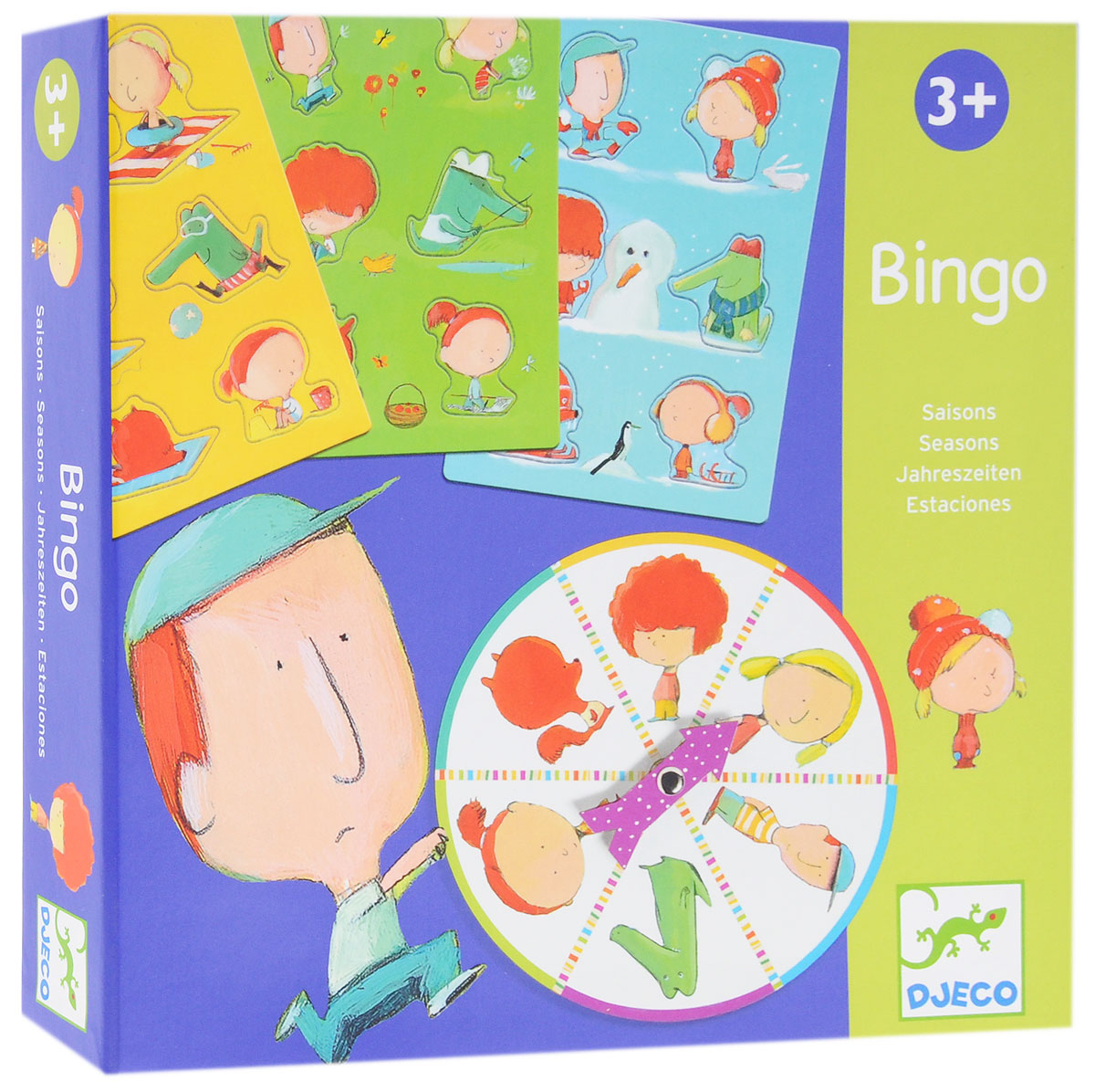 Djeco Обучающая игра Бинго Времена года игра e формы бинго djeco