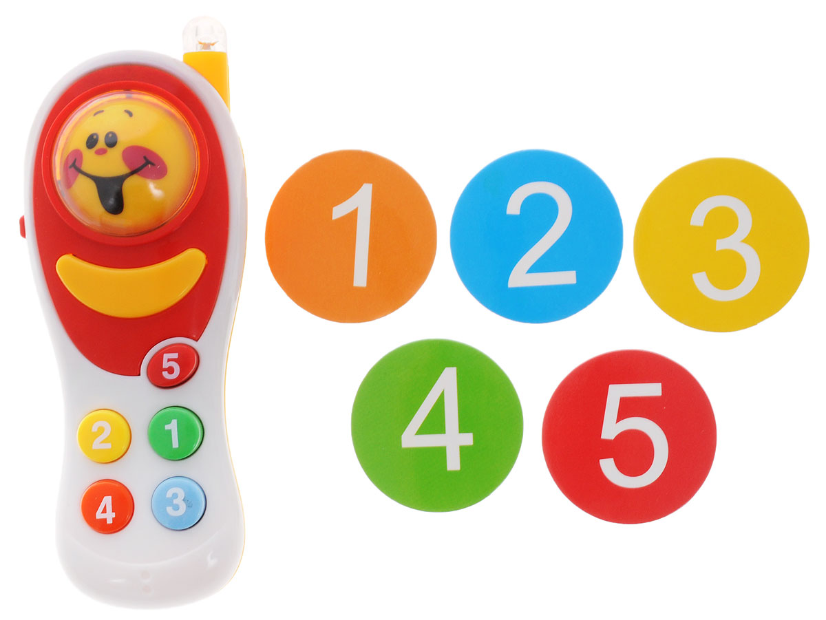 ABtoys Развивающая игрушка Интеллектуальный мобильный телефон цвет белый, Junfa Toys Ltd