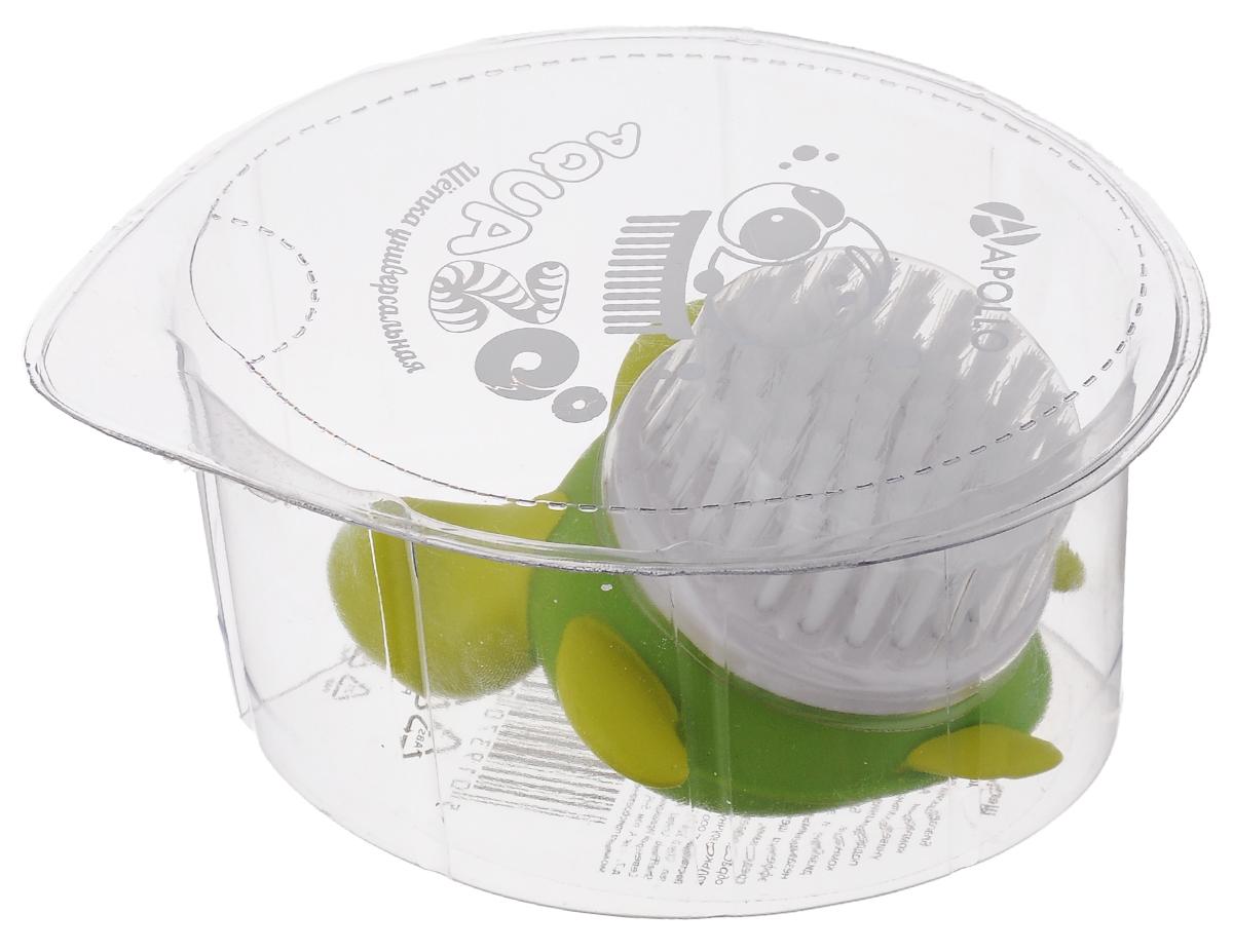 Щетка универсальная Apollo Aqua Zoo. ЧерепахаAQZ-08_черЩетка Apollo AquaZoo. Черепаха, изготовленная из пищевого пластика и нейлона, выполнена в видечерепахи. Она универсальна и прекрасно подойдет для поддержания чистоты, как на кухне, так и в ванной комнате. Благодаря оригинальному, дружелюбному дизайну и эргономичной ручке, такая щетка станет незаменимым инструментом в вашем доме. Для наилучшего эффекта щетку необходимо использовать вместе с чистящими средствами, рекомендованными для поверхностей, которые вы обрабатываете.Нельзя мыть в посудомоечной машине.Не использовать для мытья щетки абразивные вещества.Размер черепахи: 8,5 х 7,5 х 4 см.Диаметр рабочей поверхности: 5 см .Длина ворса: 1,5 см.