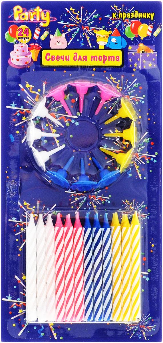 Action!Свечи для торта Классика 24 шт Action!