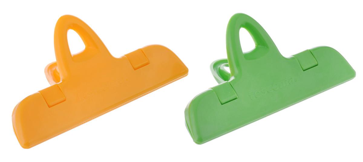 Клипсы для пакетов Tescoma Presto, цвет: оранжевый, зеленый, длина 11 см, 2 шт420764_желтый, зеленыйКлипсы для пакетов Tescoma Presto, изготовленные из прочной пластмассы,предназначены для герметичного хранения продуктов в пакетах. Например, для храненияспеций, кофе, замороженных овощей в холодильнике и т.д. Продукты более длительноевремя сохраняются свежими.Можно мыть в посудомоечной машине.Размер клипсы: 11 х 6 х 4 см.Длина клипсы: 11 см.