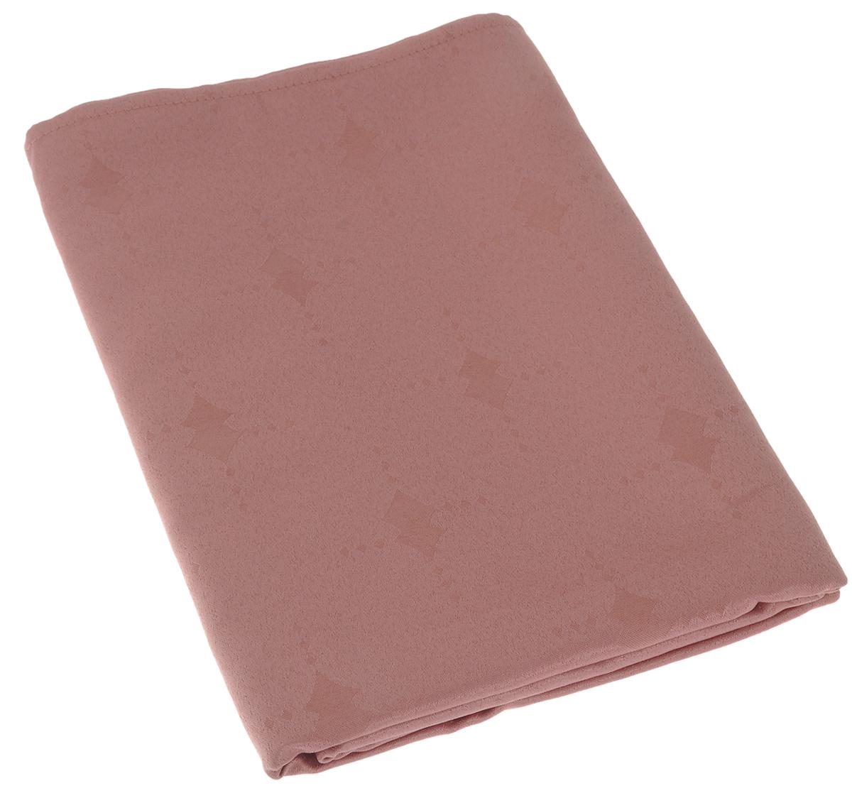 """Изящная прямоугольная скатерть """"Schaefer"""", выполненная из плотного полиэстера, станет украшением кухонного стола. Изделие декорировано красивым узором в виде ромбов. За текстилем из полиэстера очень легко ухаживать: он не мнется, не садится и быстро сохнет, легко стирается, более долговечен, чем текстиль из натуральных волокон. Использование такой скатерти сделает застолье торжественным, поднимет настроение гостей и приятно удивит их вашим изысканным вкусом. Также вы можете использовать эту скатерть для повседневной трапезы, превратив каждый прием пищи в волшебный праздник и веселье.  Это текстильное изделие станет изысканным украшением вашего дома!"""