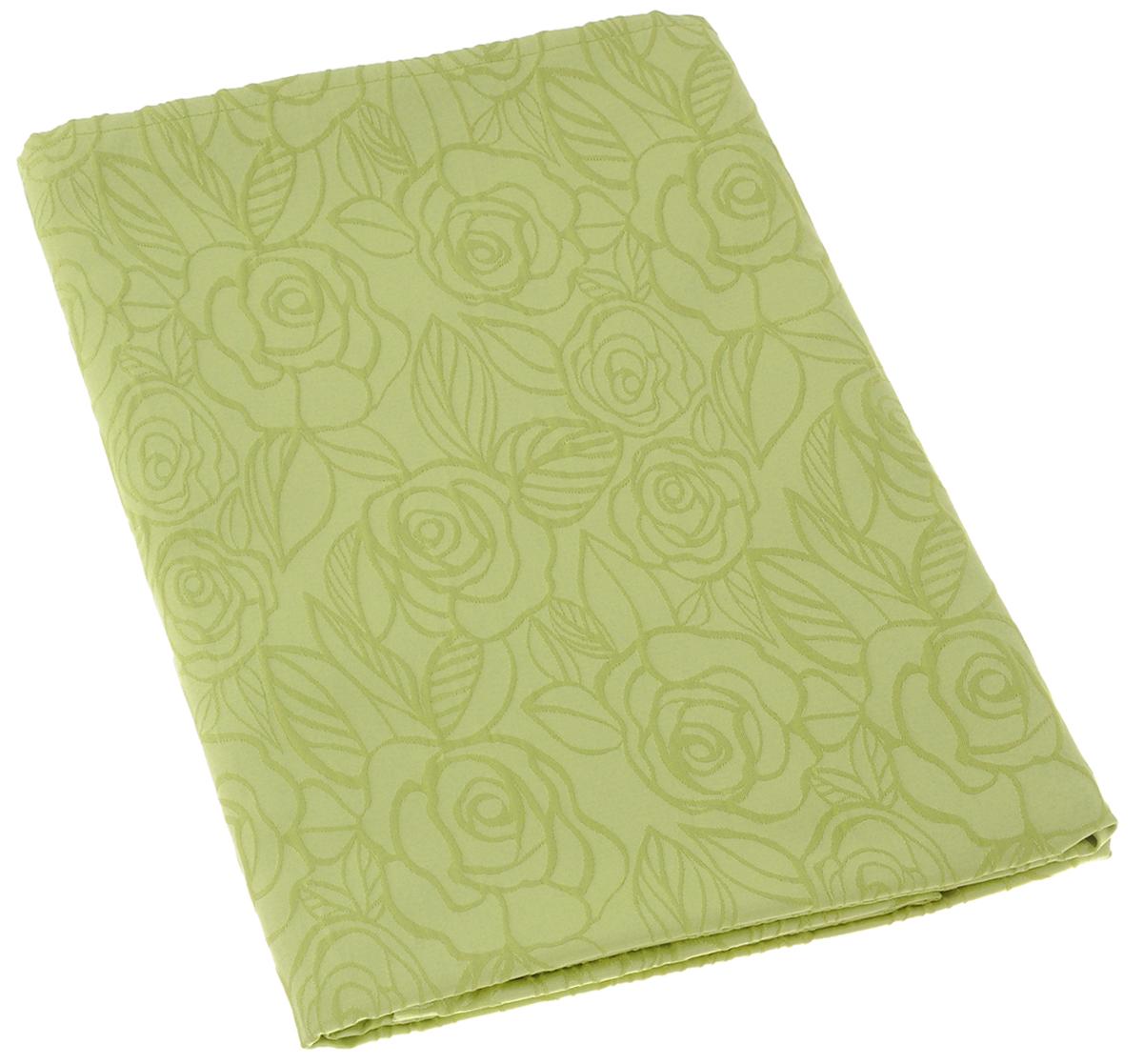 Скатерть Schaefer, прямоугольная, цвет: светло-зеленый, 130 х 160 см. 07548-42707548-427Изящная прямоугольная скатерть Schaefer, выполненная из плотного полиэстера с водоотталкивающей пропиткой, станет украшением кухонного стола. Изделие декорировано рельефным цветочным узором. За текстилем из полиэстера очень легко ухаживать: он не мнется, не садится и быстро сохнет, легко стирается, более долговечен, чем текстиль из натуральных волокон. Использование такой скатерти сделает застолье торжественным, поднимет настроение гостей и приятно удивит их вашим изысканным вкусом. Также вы можете использовать эту скатерть для повседневной трапезы, превратив каждый прием пищи в волшебный праздник и веселье.Это текстильное изделие станет изысканным украшением вашего дома!