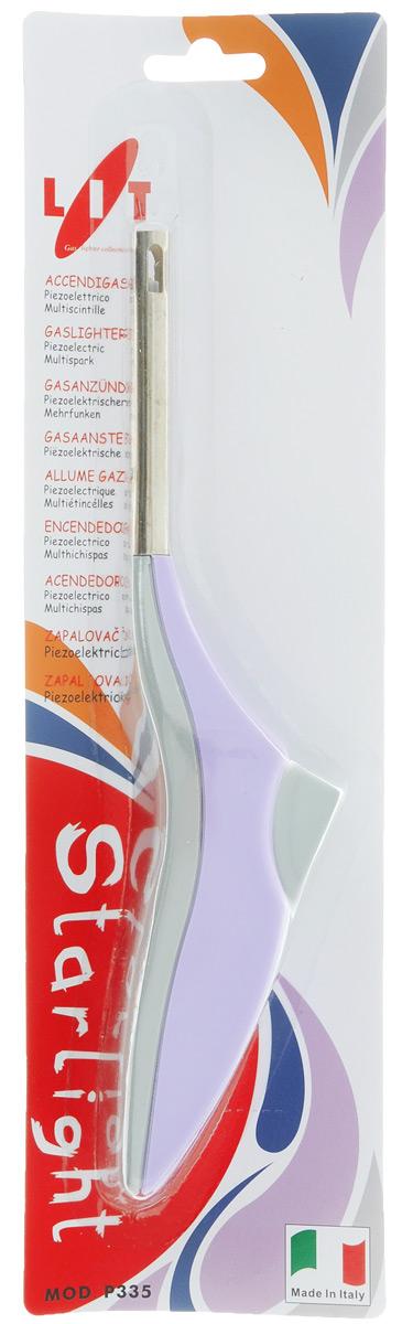 """Пьезозажигалка """"Starlight"""", выполненная из высококачественного пластика и металла, станет незаменимым  помощником на вашей кухне.  Внутри зажигалки находится не разрушающийся кварц, поэтому срок службы изделия неограничен. Это  универсальная зажигалка для безопасного поджога метана и любого газа.  Она проста в использовании: приложите к газовой горелке, включенной на максимум, и нажмите кнопку  зажигалки.  Зажигалка подходит для любых газовых плит. Эргономичная ручка, не позволит  выскользнуть зажигалке из руки."""