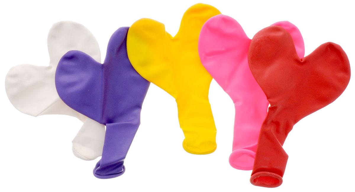 Action! Шары воздушные Сердечки 5 шт -  Воздушные шарики