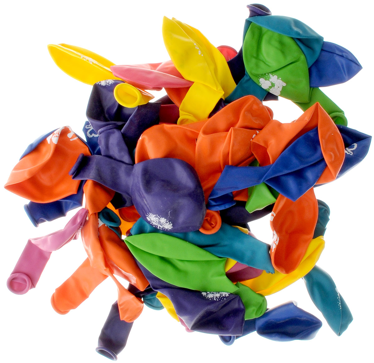 Action! Шары воздушные С Днем Рождения! 25 см 50 шт -  Воздушные шарики