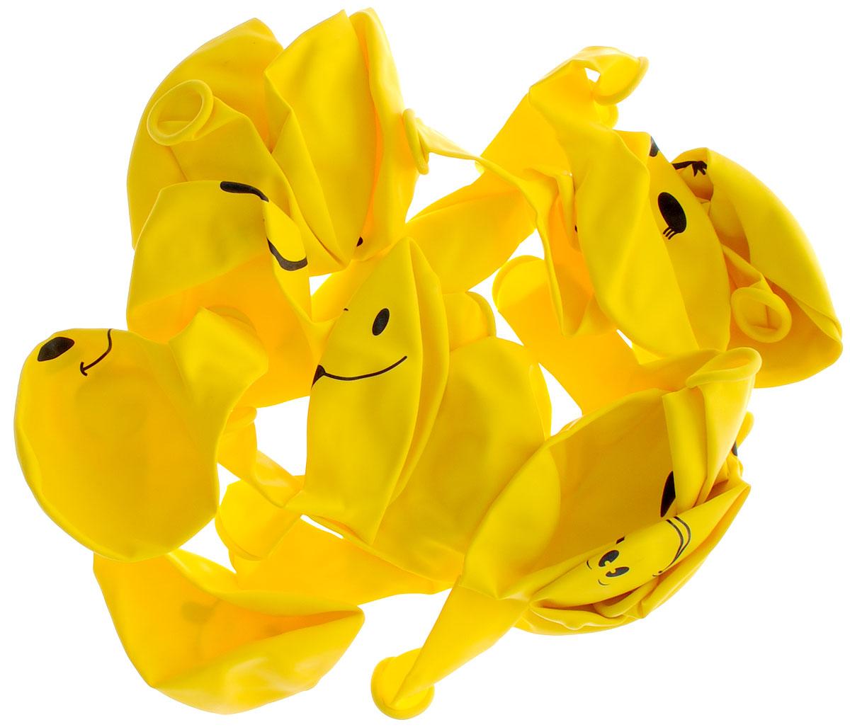 Action! Шары воздушные Смайлы 30 см 20 шт action воздушные шары action 30 см 100 шт
