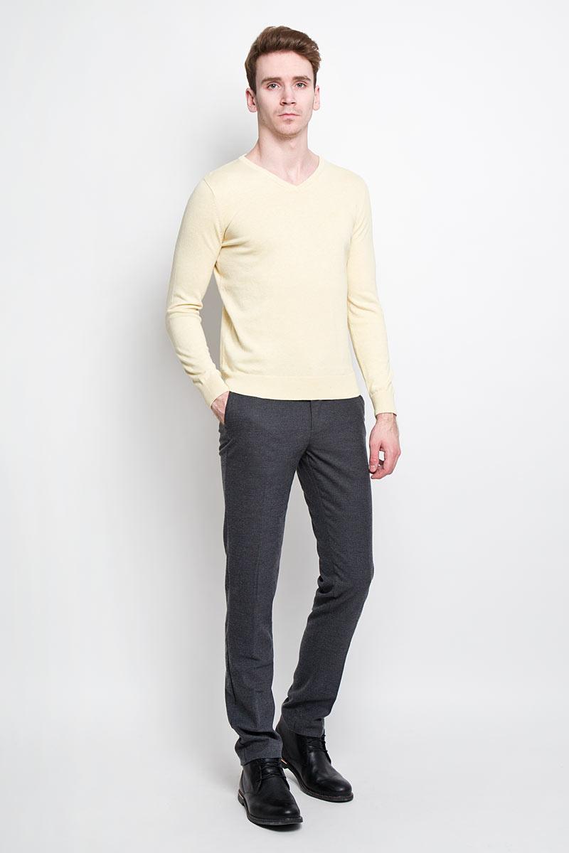Пуловер мужской Tom Tailor, цвет: светло-желтый. 3019732.00.10. Размер M (48)