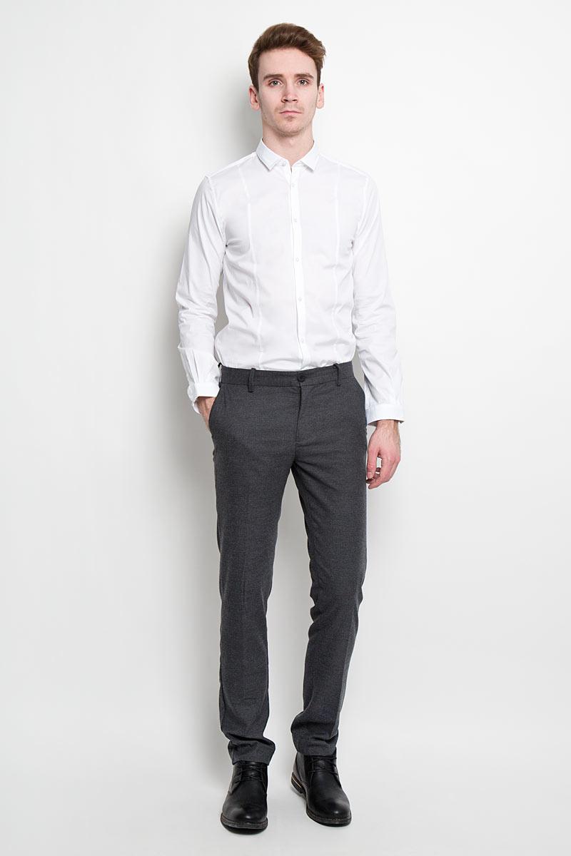 Рубашка мужская Tom Tailor, цвет: белый. 2031067.09.15. Размер XXL (54) рубашка мужская levi s® цвет синий красный белый 6581602170 размер xxl 54