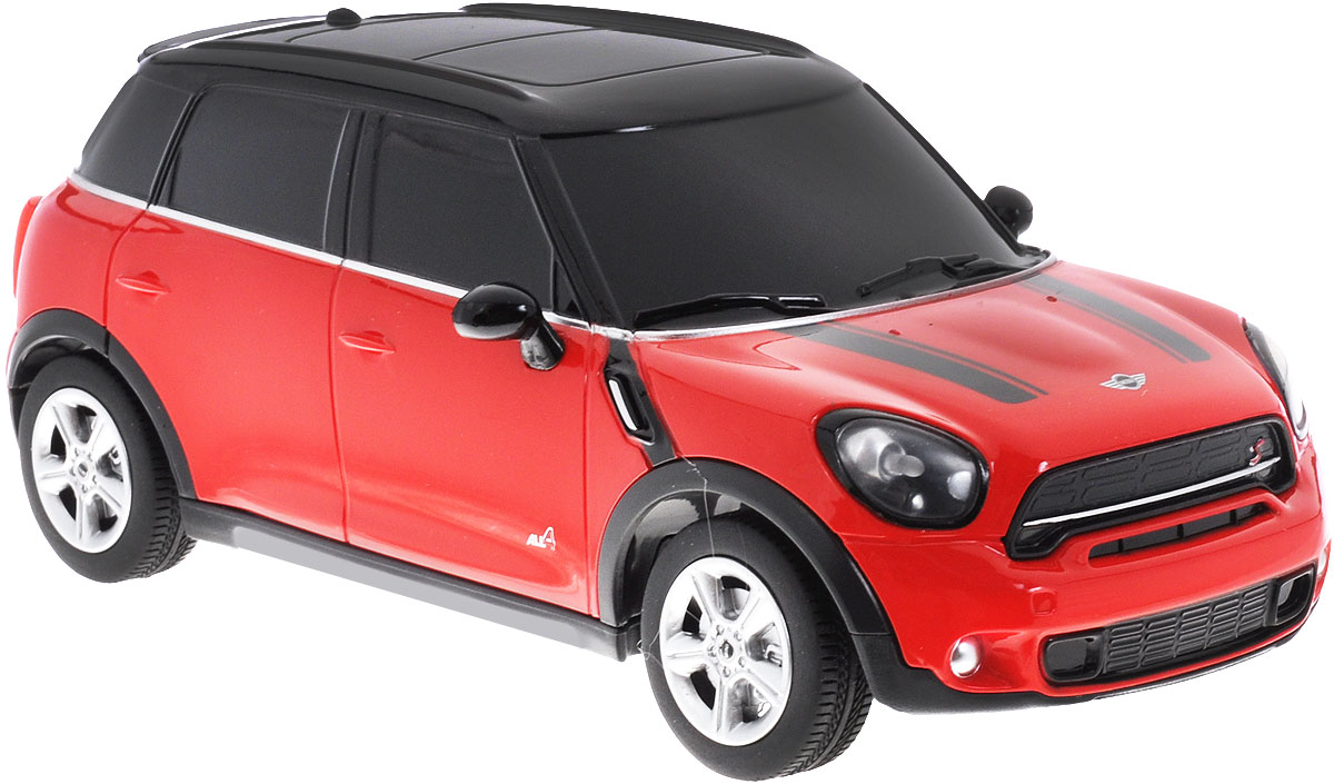 Rastar Радиоуправляемая модель Mini Cooper S Countryman цвет красный масштаб 1:24 for mini cooper one s r55 r56 r58 r59 r60 r61 f55 f56 countryman clubman car door laser lamp projector led lights