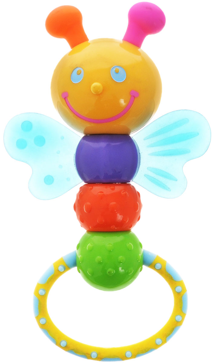 Simba Погремушка-прорезыватель Букашка с крылышками погремушка simba прорезыватель 4016964