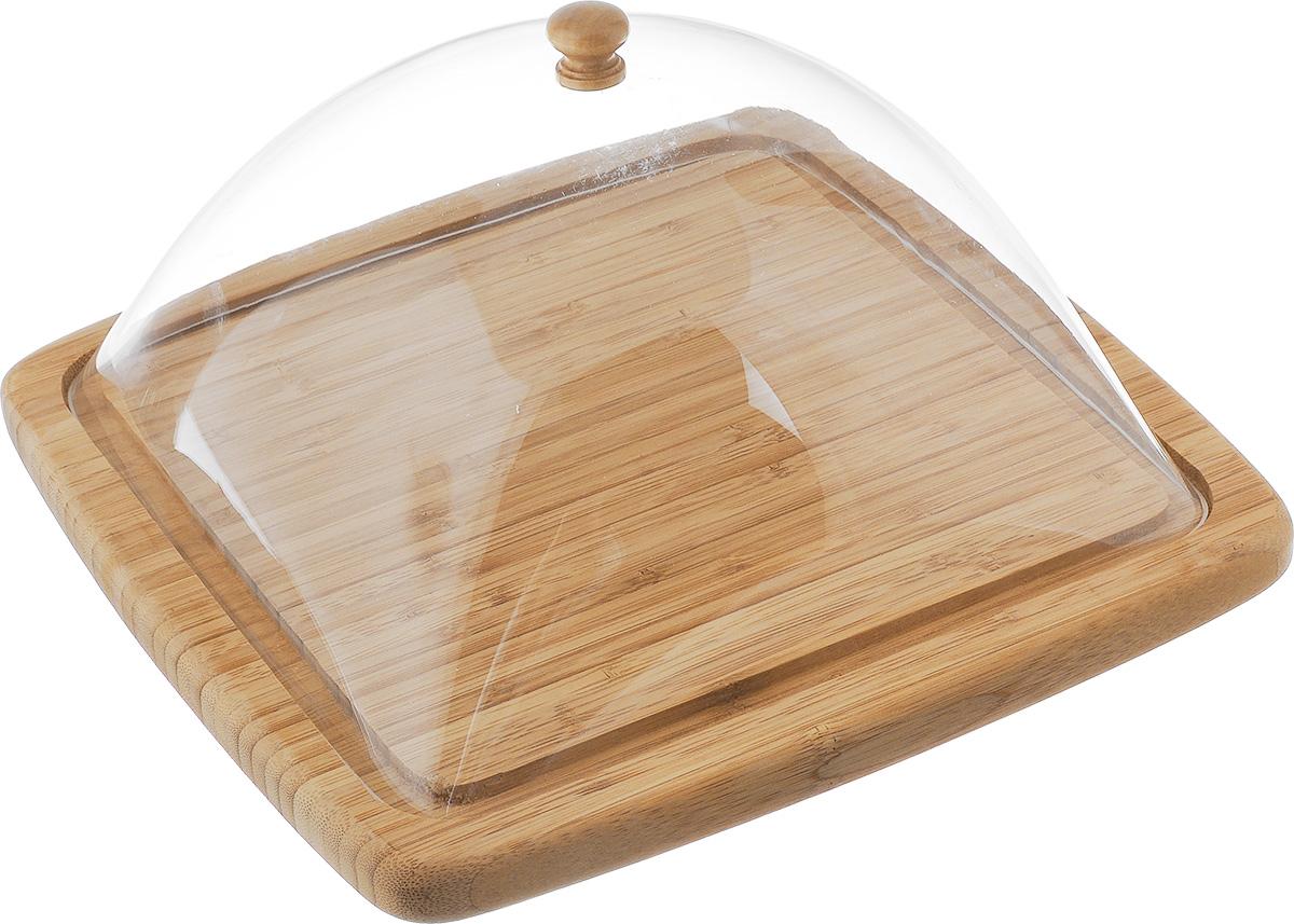 Сырница House & Holder, 30 х 30 смYG11-0181Сырница House & Holder состоит из подноса и прозрачной пластиковой крышки.Она предназначена для удобного хранения и красивой сервировки различныхсортов сыра, а также других продуктов. Поднос изготовлен из бамбука и имеет специальные выемки, благодаря которымкрышка легко на него устанавливается. Он может использоваться как дляхранения и сервировки сыра, так и для нарезания продуктов.Сырница House & Holder станет незаменимым помощником на вашей кухне.Размер подноса: 30 х 30 х 2 см. Размер крышки: 25,5 х 26 х 13 см.
