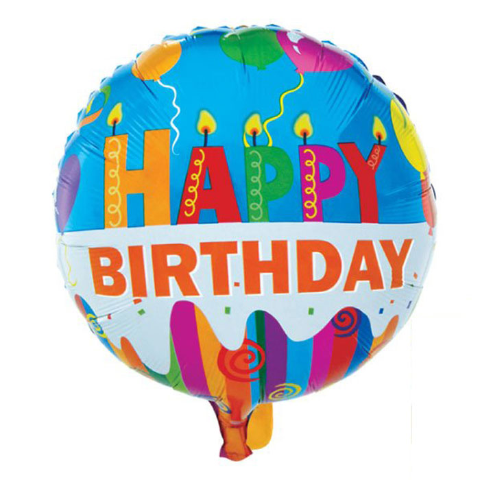Action! Шар фольгированный Happy Birthday светильник шар на столб