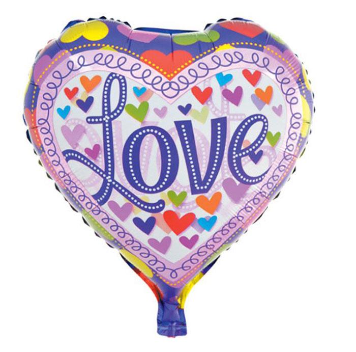 Action! Шар фольгированный Love -  Воздушные шарики