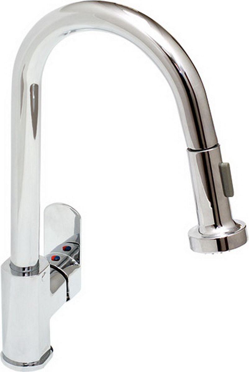 Смеситель для кухни Argo Sink, с вытяжной лейкой. 2666615143Смеситель для кухни с вытяжной лейкой Argo Sink - это незаменимый элемент любой кухни,который изготовлен из высококачественного металла с никилиевым покрытием. Материалытакого типа отличаются повышенной долговечностью, а главное - гигиеничностью! Покрытиеиз никеля и хрома достаточно надежное, оно защищает металл от появления коррозии и слегкостью очищается от любых загрязнений.Товар укомплектован аэратором типа М24х1, наружная резьба Only Plast 10 - 13 л/мин при 0,3Мпа. Он не просто эффективно смешивает воду с воздухом, но и смягчает ее, а сам напорстановится равномернее.В комплект входит: -гибкая подводка Mateo 50 см; -грузило; -вытяжной шланг 120 см, оплетка - хромированная нержавеющая сталь, двойной замок, М15х1 -1/2; -душевая лейка tubo двухпозиционная: аэро, душ.