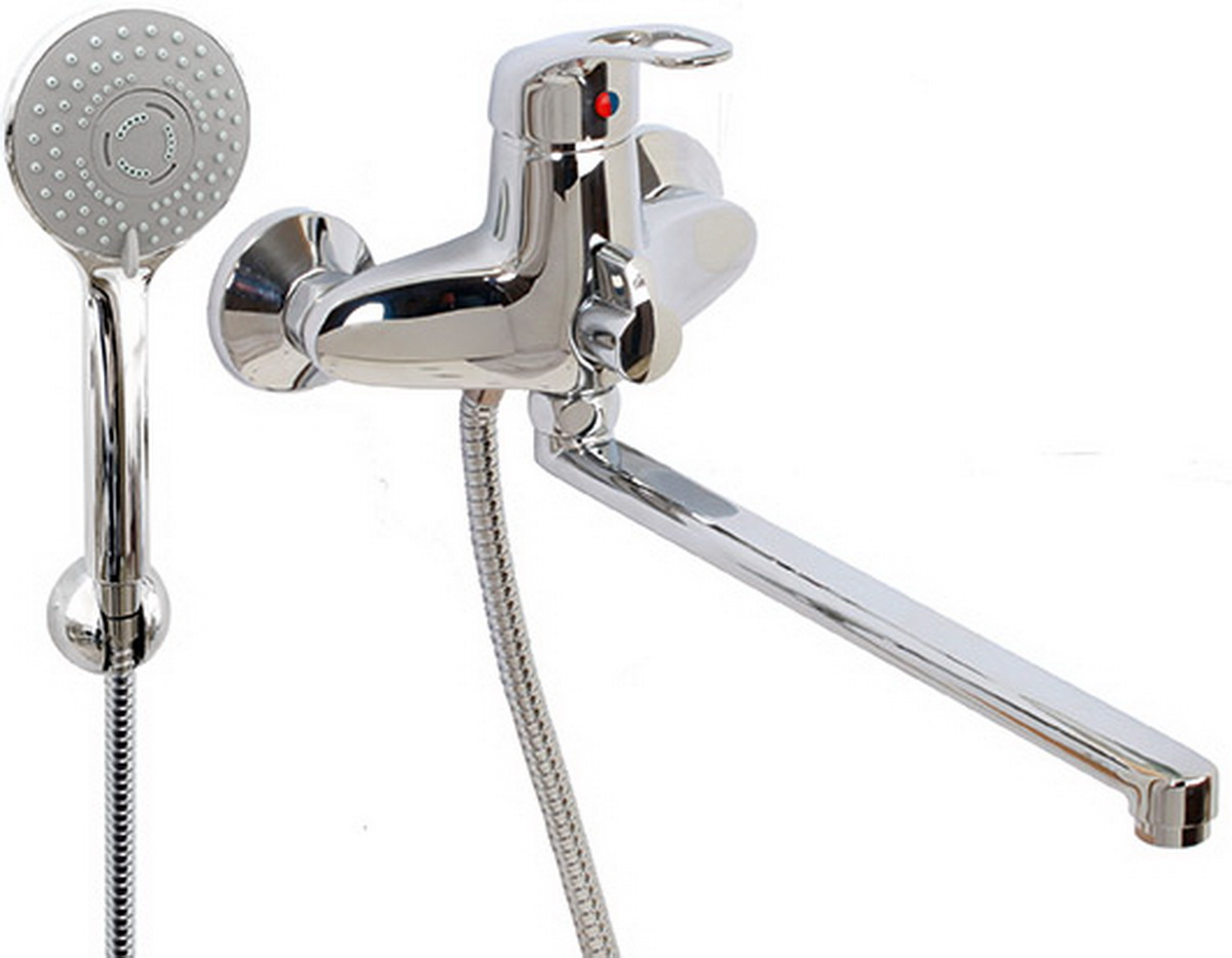 Смеситель для ванны и умывальника Argo Lux Jamaica, керамбукса, L образный излив 325 мм смеситель для ванны argo 40 s35l d jamaica