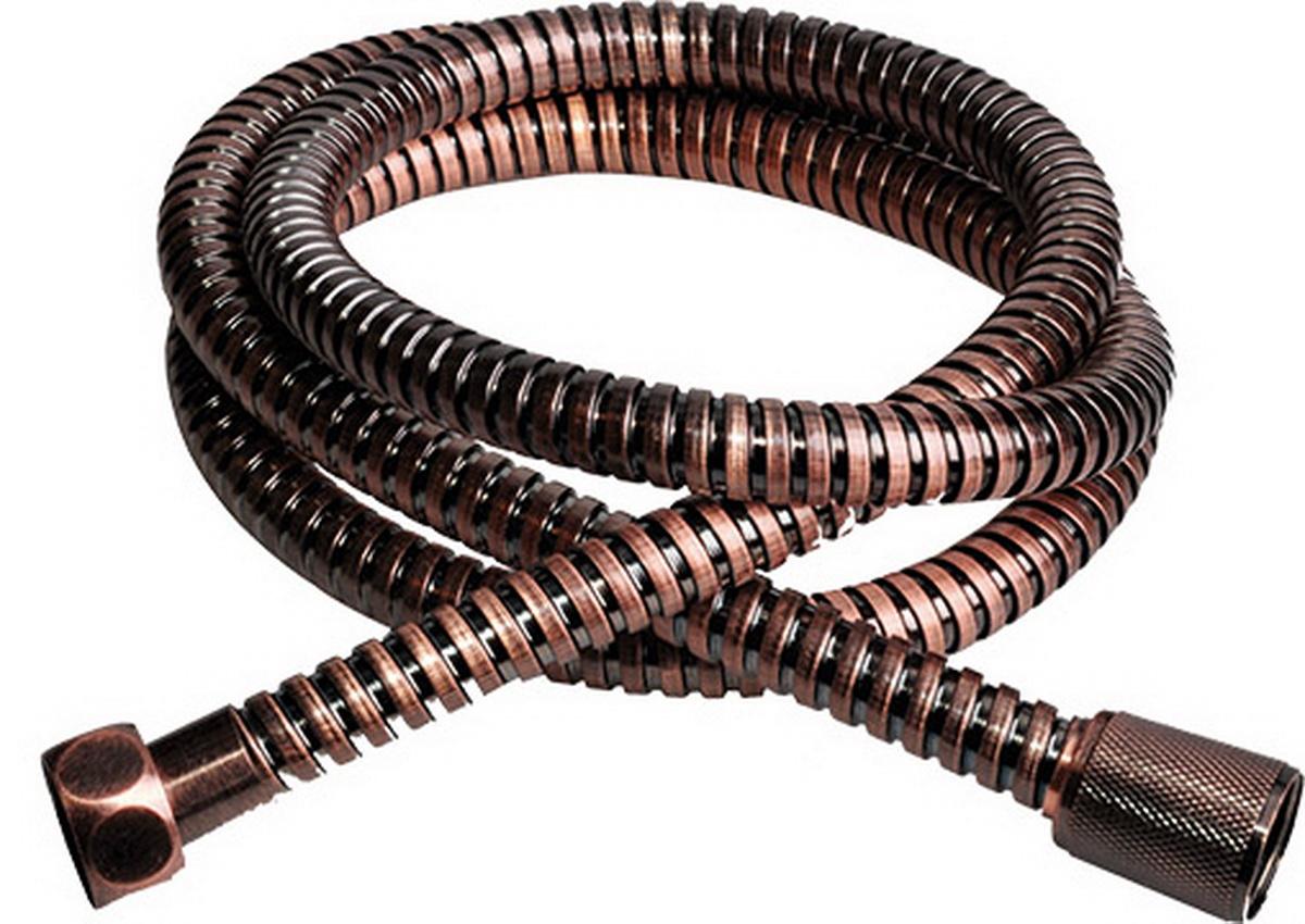 Шланг для душа Argo Eur, цвет: бронза, 1/2, 150 см33099Универсальный гибкий шланг для душа Argo Eur с внешней оболочкой изнержавеющей стали, сочетает в себе отличные эксплуатационные характеристикии приятный дизайн. Прочный и надежный шланг эргономичен и прост в монтаже, удобен виспользовании. Длина: 150 см. Выходы шлага: 1/2. Тип фитинга: гайка - конус с насечкой.Тип соединения оплетки: двойной замок.