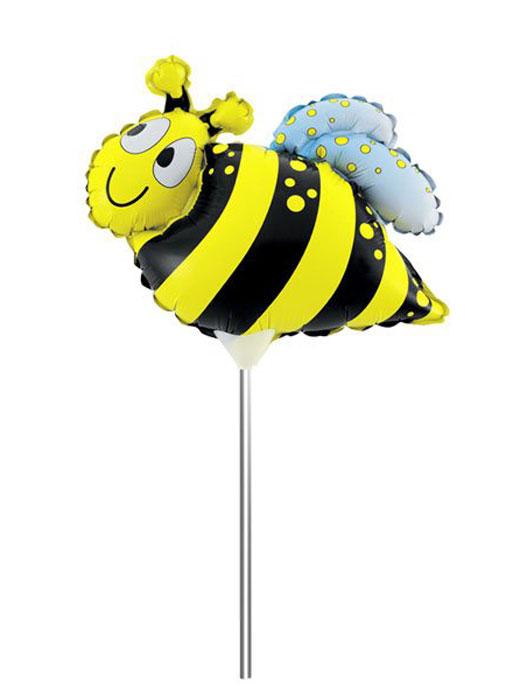 Action! Шар фольгированный на палочке Пчела светильник шар на столб