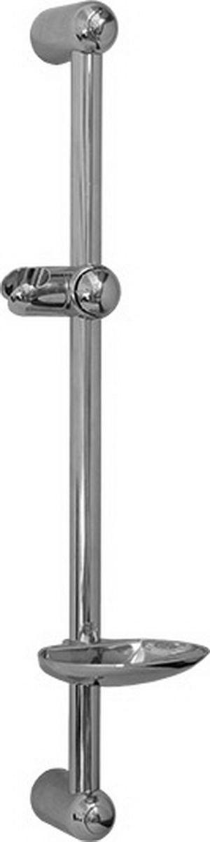 Стойка для душа Argo, с хромированной мыльницей, 60 см, B-AAGD 24.1205BСтойка для душаArgo оснащена хромированной мыльницей. Стойка изготовлена из нержавеющей стали. Опоры, кронштейны и мыльница изготовлены из прочного ABS пластика. В изделии применяется удобная кнопочная фиксация кронштейна.Материалы: Трубка: нержавеющая сталь. Опоры, кронштейн, мыльница: ABS пластик.Покрытие: хром.