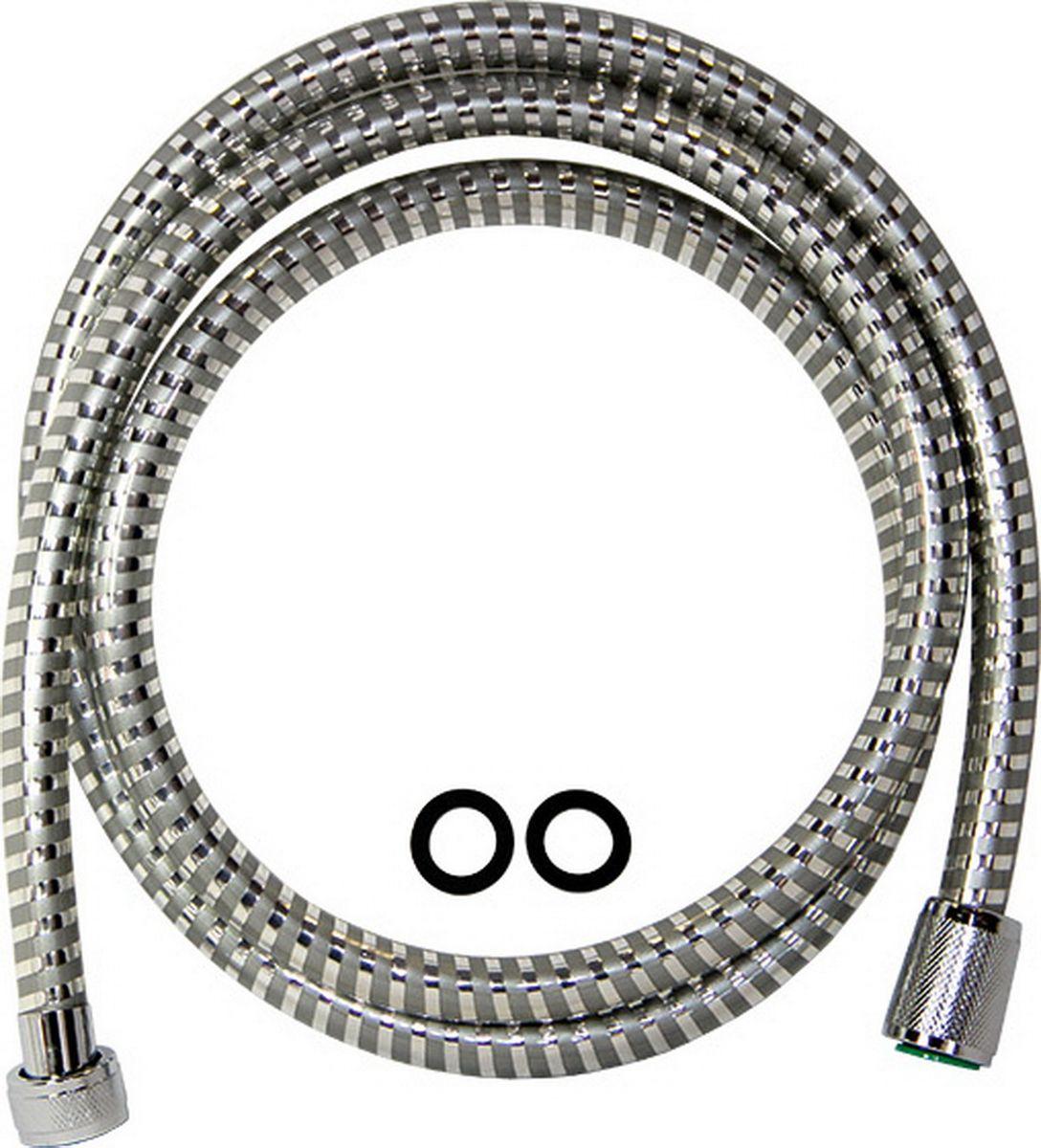 Шланг для душа Argo Еspiroflex, цвет: серый, 165 см34549Универсальный гибкий шланг для душа Argo Еspiroflex с внешней оболочкой изнержавеющей стали, сочетает в себе отличные эксплуатационные характеристикии приятный дизайн. Прочный и надежный шланг эргономичен и прост в монтаже, удобен виспользовании. Длина: 165 см. Выходы шлага: 1/2. Тип фитинга: гайка – конус.Тип соединения оплетки: двойной замок.