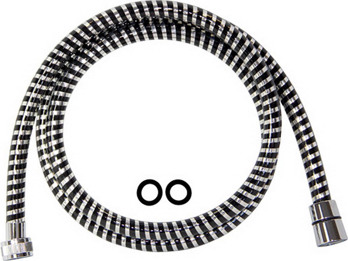 Шланг душевой Argo, длина 150 см34550Шланг душевой Argo с хромированной стальной оплеткой изготовлен из высокого качества, прочного и устойчивого к износу материала.Особенности: Тип фитинга: гайка - конус с резиновым кольцом;Тип соединения оплетки: двойной замок;Материал оплетки: нержавеющая сталь;Материал трубки: PVC;Внешний диаметр: 14 мм;Максимальная статическая нагрузка: 60 кг;Максимальное рабочее давление: 10 bar;Рабочее давление: 5 bar.В комплекте две резиновые прокладки.