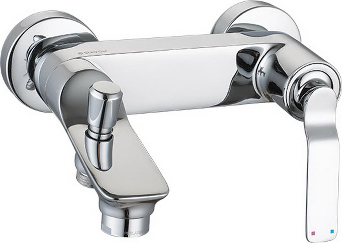 """Смеситель для ванны Argo """"Adam"""" предназначен для смешивания холодной и горячей воды, устанавливается на стену. Выполнен из высококачественного металла с покрытием из никеля и хрома.Запорный механизм: картридж d-35 мм """"Short-size"""" FLUHS (Германия) Тип дайвотера: штоковый    Аэратор: М28х1 наружная резьба NEOPERL CASCADE SLC """"Антикалькар"""" 22,8 - 25,2 л/мин при 0,3 Мпа  Крепеж: эксцентрик усиленный 3/4"""" х 1/2"""" с редуктором шума + прокладка-фильтр   Комплектация:душевой шланг растяжной 150 - 180 см, оплётка - хромированная нержавеющая сталь, учащённый двойной замок, 1/2"""" с конусом свободного вращения душевая лейка """"PREMIUM"""" четырёхпозиционная: душ, массаж, аэро, душ/аэро кронштейн наклонный   ключ для демонтажа аэратора  предохранительные накладки для монтажа крепёжных гаек"""