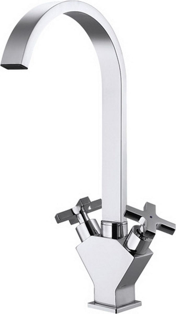 """Смеситель для кухни Argo предназначен для смешивания холодной и горячей воды, устанавливается на мойку. Смеситель изготовлен из качественного металла с покрытием из никеля и хрома. Запорный механизм: кран-букса 1/2"""" 900 """"керамика"""" 8х24.  Крепеж: одношточный """"Single-Rod"""".  Материал: металл, латунь. Покрытие: никель/хром. Гибкая подводка 50 см."""