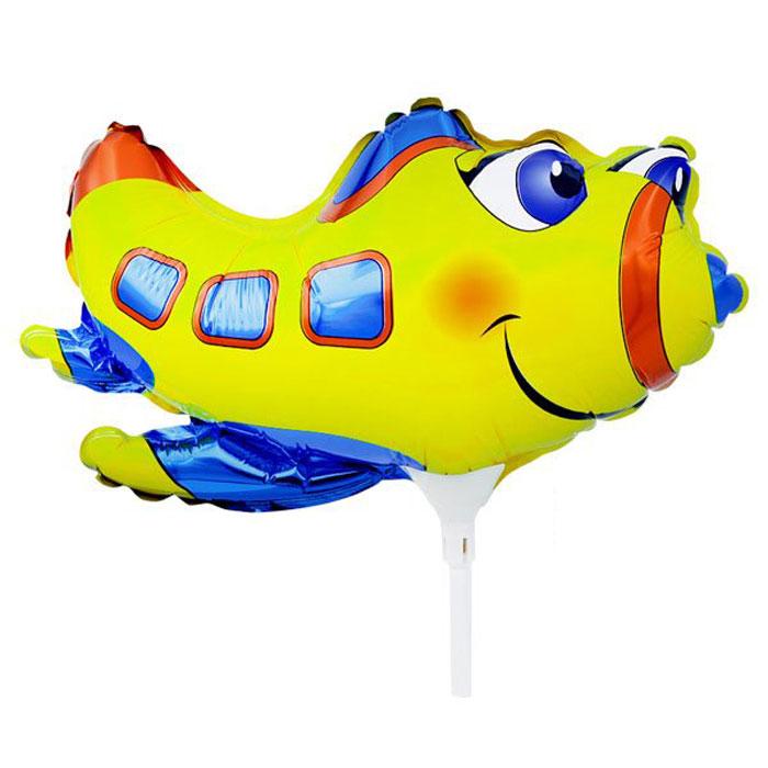 Action! Шар фольгированный на палочке Самолет -  Воздушные шарики
