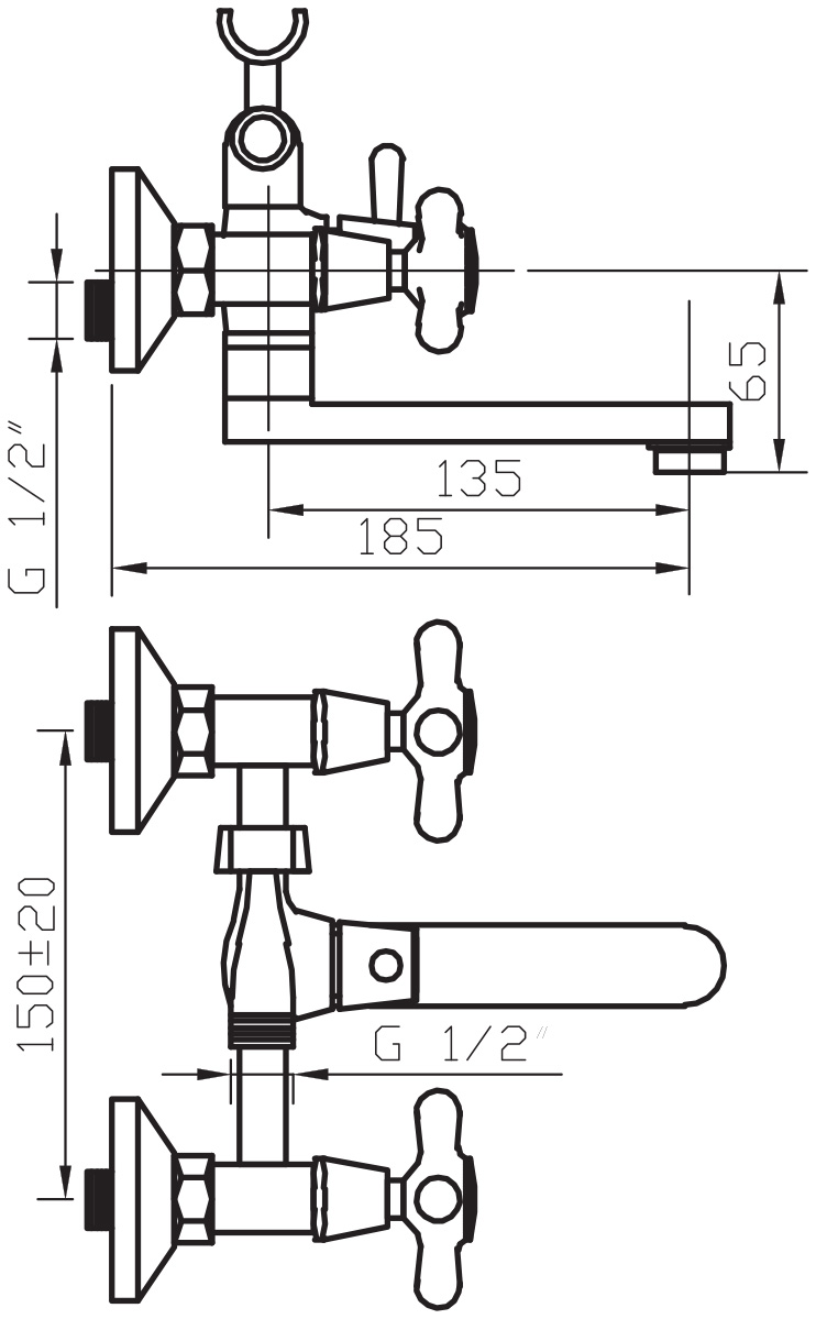 """Смеситель для ванны Argo """"Retro"""" предназначен для смешивания холодной и горячей воды, устанавливается на стену. Выполнен из  высококачественной латуни с покрытием из хрома. Запорный механизм: кран букса 1/2"""" 90° """"Керамика"""" 7,7х20. Тип дайвотера: клапанный. Аэратор: ячейковый М24х1 """"Only-Plast"""" 10-13 л/мин при 0,3 МПа. Крепеж: эксцентрик 3/4"""" х 1/2"""", прокладка-фильтр."""