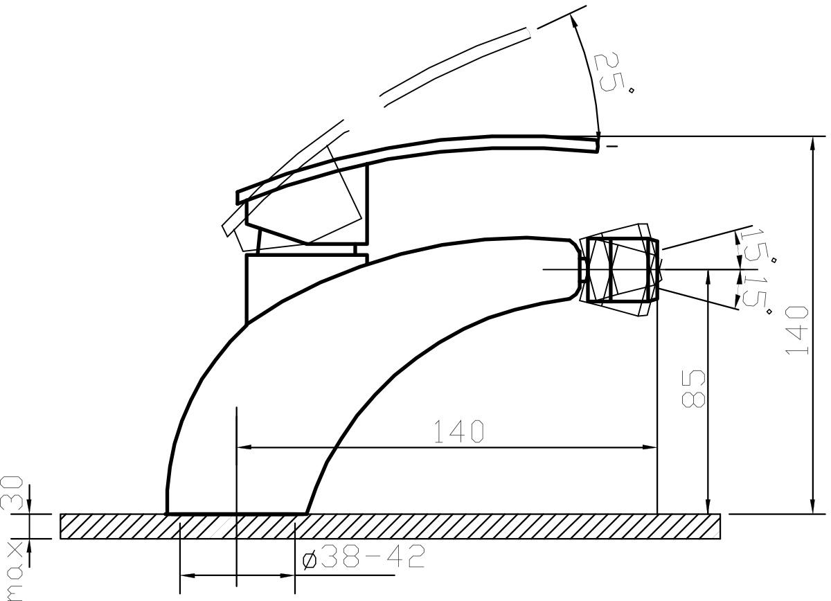"""Смеситель для биде Argo """"Alfa"""" предназначен для смешивания холодной и горячей воды. Выполнен из высококачественного металла с покрытием из никеля и хрома.  Запорный механизм: картридж d-35 мм """"Long-size"""" SEDAL    Аэратор: М22х1 Neoperl CASCADE SLC """"Антикалькар"""" 7,5-9 л/мин при 0,3 МПа    Крепеж: одношточный """"Single-rod""""     Доп. информация: с выходом под донный клапан      Комплектация:    Гибкая подводка Mateu (длина 50 см)"""