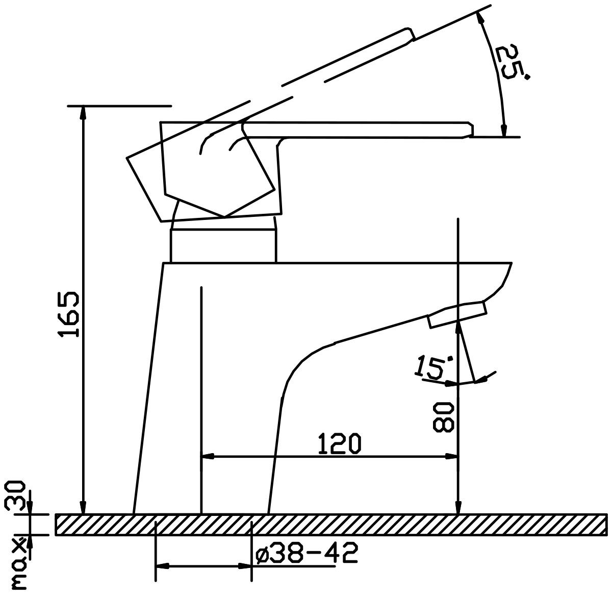 """Смеситель для умывальника Argo """"Beta"""" предназначен для смешивания холодной и горячей воды, устанавливается на мойку. Выполнен из высококачественного металла с покрытием из никеля и хрома.      Запорный механизм: картридж d-40 мм """"Short-size"""" SEDAL  Аэратор: М24х1 Neoperl SSR PCA """"Шарнир ±10° с редуктором потока"""" 8 л/мин при 0,3 МПа  Крепеж: двухшточный """"Double-rod""""   Доп. информация: с выходом под донный клапан       Комплектация: Гибкая подводка Mateu, 50 см   Ключ для демонтажа аэратора"""