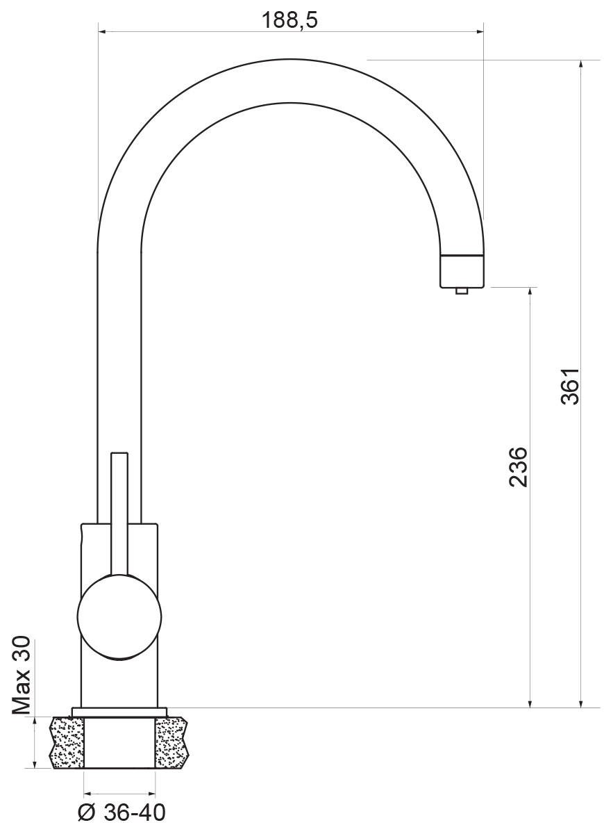 """Смеситель для кухни с выходом под питьевую воду Argo """"Spring"""" предназначен для смешивания холодной и горячей воды, устанавливается на мойку. Выполнен из высококачественного металла с покрытием из никеля и хрома. Запорный механизм: картридж d-35 мм """"Long-size"""" кран букса 1/2"""" 90° """"Керамика"""" 7,7х20 левостороннее закрытие Аэратор: М22х1 внутренняя резьба, двойной """"Two flow"""" d-24 мм   Крепеж: одношточный """"Single-rod""""  Комплектация:гибкая подводка """"Argo"""" 1/2""""х50 см (пара) гибкая подводка """"Argo"""" 1/2""""х30 см"""