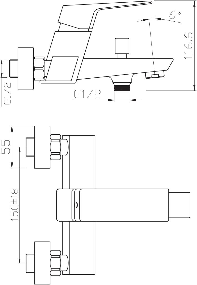 """Смеситель для ванны Argo """"Grano"""" предназначен для смешивания холодной и горячей воды, устанавливается на стену. Выполнен из высококачественного металла с покрытием из никеля и хрома.  Запорный механизм: картридж d-35 мм """"Short-size"""" SEDAL (Испания) Тип дайвотера: штоковый      Аэратор: М24х1 наружная резьба NEOPERL CASCADE SLC """"Антикалькар"""" 22,8 - 25,2 л/мин при 0,3 Мпа    Крепеж: эксцентрик усиленный 3/4"""" х 1/2"""" с редуктором шума + прокладка-фильтр        Комплектация: душевой шланг растяжной 150 - 180 см, оплётка - хромированная нержавеющая сталь, учащённый двойной замок, 1/2"""" с конусом свободного вращения   душевая лейка """"GRANO""""   кронштейн наклонный ключ для демонтажа аэратора    предохранительные накладки для монтажа крепёжных гаек"""